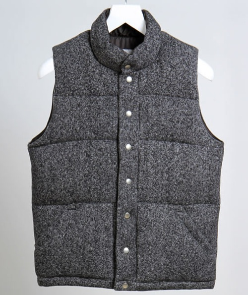 Wings + Horns for Tomorowland Japana Sueded Tiger Fleece Down Vest