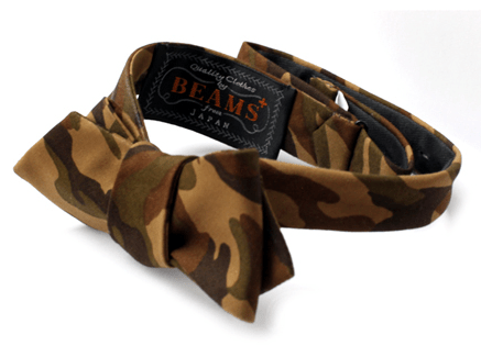 In Stock | Beams Plus Camo and Tartan Bow Ties, Spring 2011