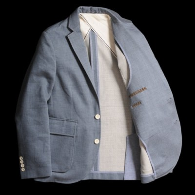 Billy Reid Chambray Jonathan Jacket