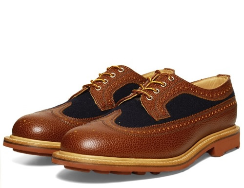 Mark McNairy Two-Tone Navy Long Wing Brogues