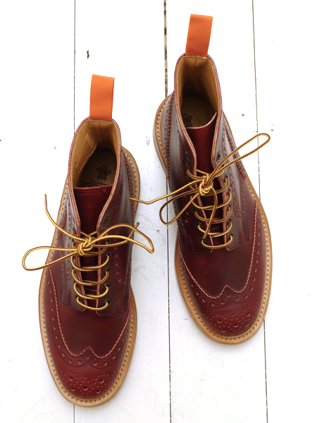 Tricker's x The Bureau Lolipop Red Cavalier Stow Brogue Boot