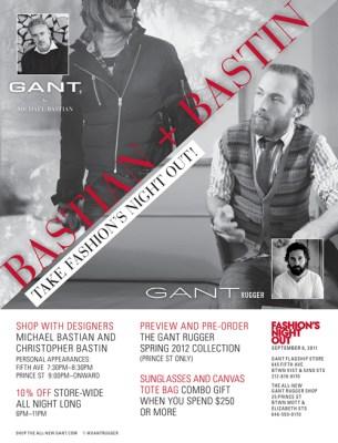 FNO 2011 NYC   Gant's Bastian & Bastin Take Fashion's Night Out