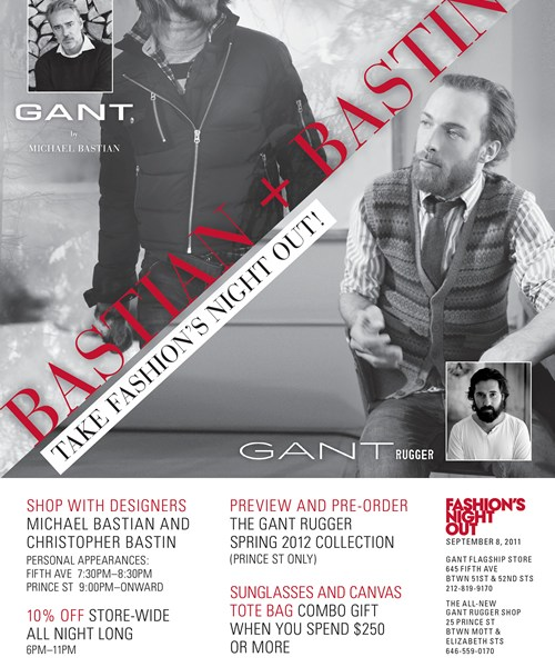 FNO 2011 NYC | Gant's Bastian & Bastin Take Fashion's Night Out