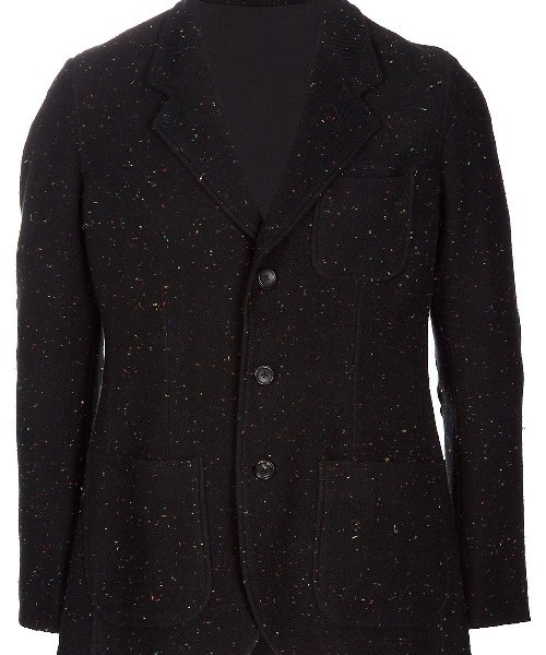 The Want   Mastermind White Spotted Unstructured Blazer