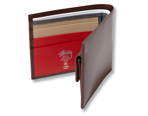 Stussy Deluxe x Ettinger Leather Billfold Wallets