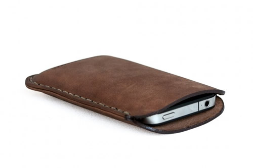 Makr iPhone Sleeve for Spring 2012 Made with Horween Leather