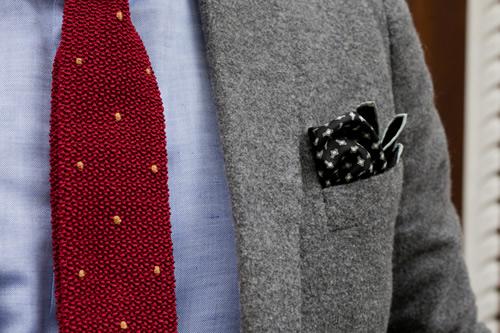 Drake's London For HODINKEE | Heritage Tie and Snowflake Pocket Square