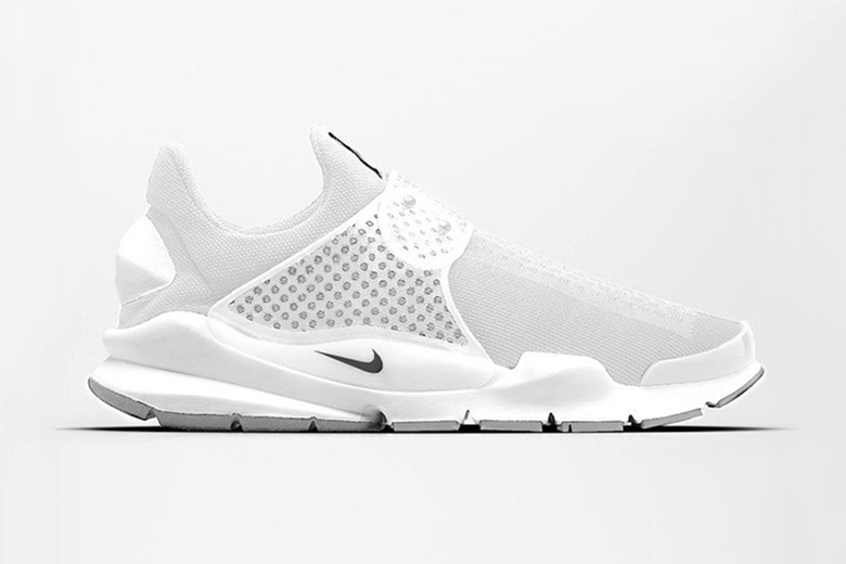 los angeles 71d16 7577a Nike Sock Dart  Triple White