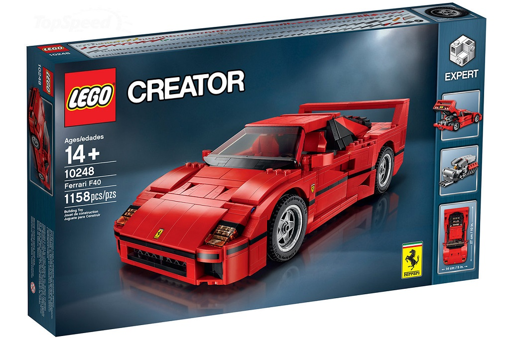Build Your Own Ferrari F40 Out Of Lego