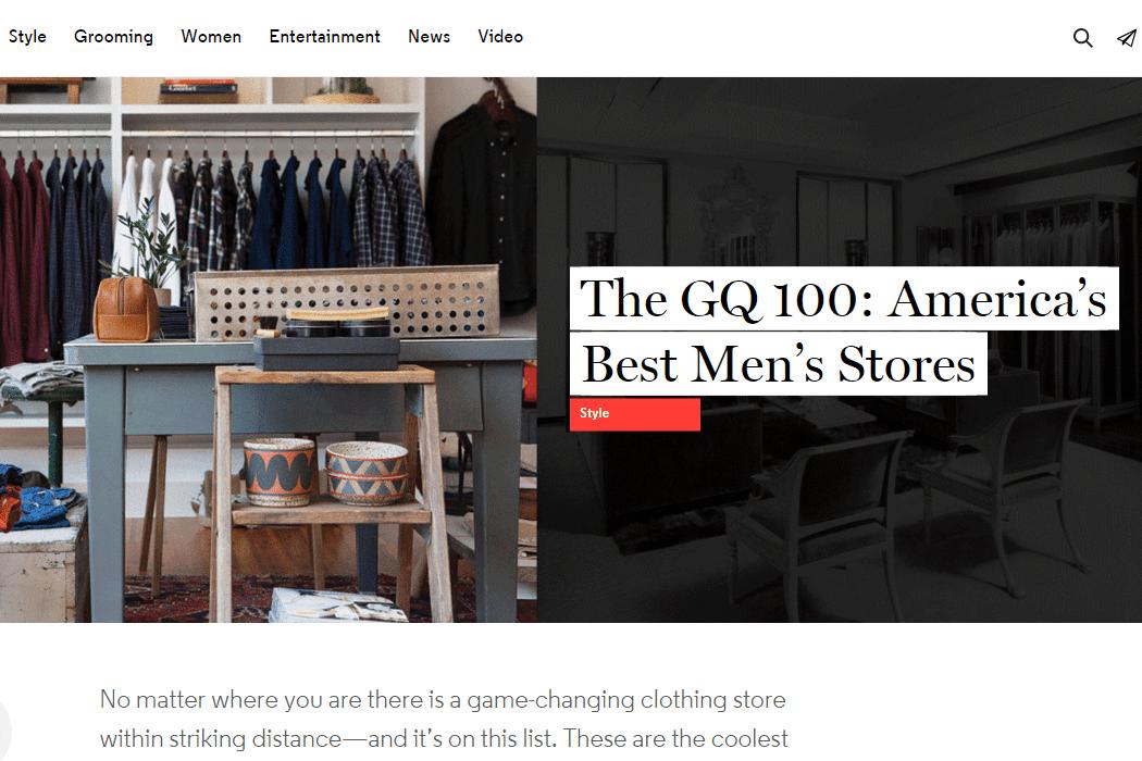 GQ 100 America's 100 Best Men's Stores of 2015-01