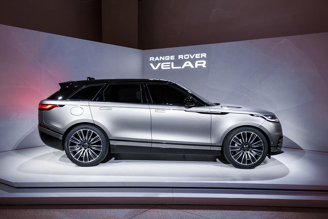 AllNew Range Rover Velar Makes Its Presence Felt During NY Auto - Range rover dealer ny