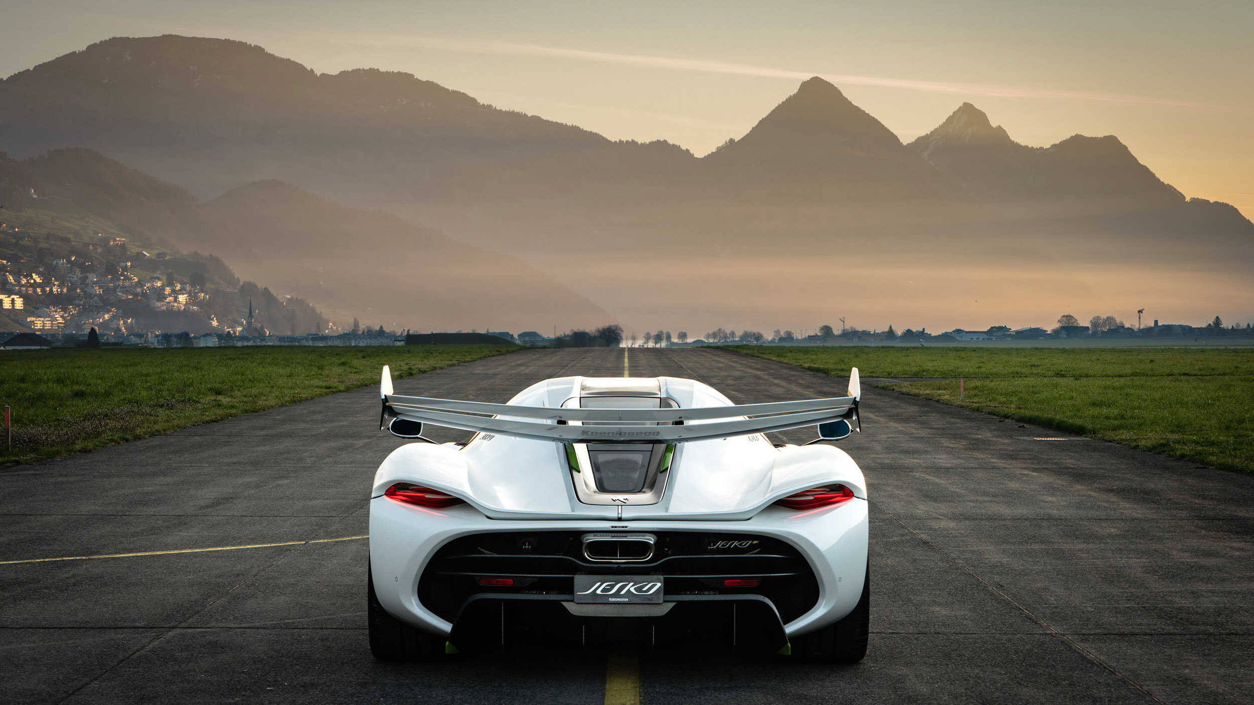 Koenigsegg Ccxr Trevita >> Koenigsegg Jesko Heads to Switzerland's Lake Lucerne For A ...