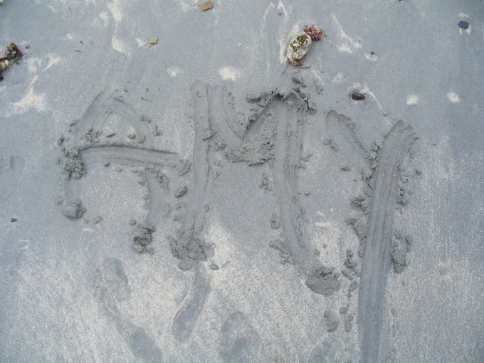 I wrote my name in the sand.