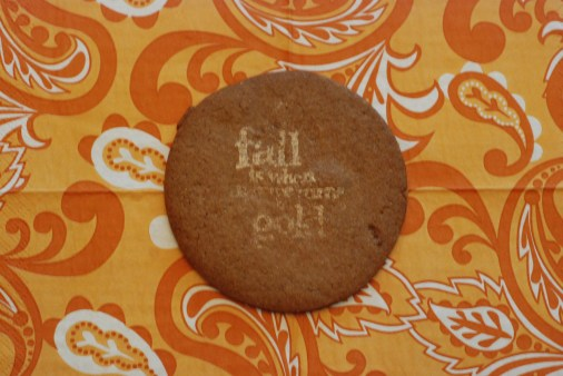 regular cookie stamped with pearl dust that was mixed with vanilla