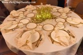 cream and gold table