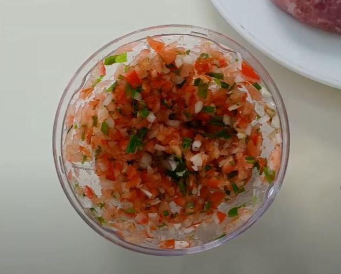Ingredientes cortadinhos