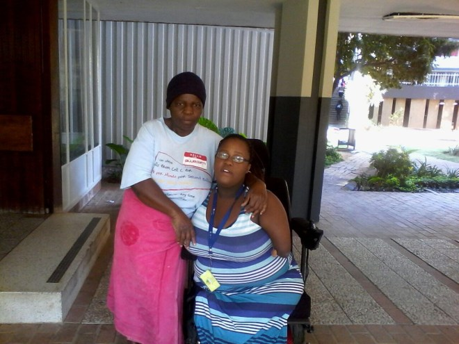Tinyiko with her aunt Josephine Makhado who raised her from birth so that her mom was able to work.