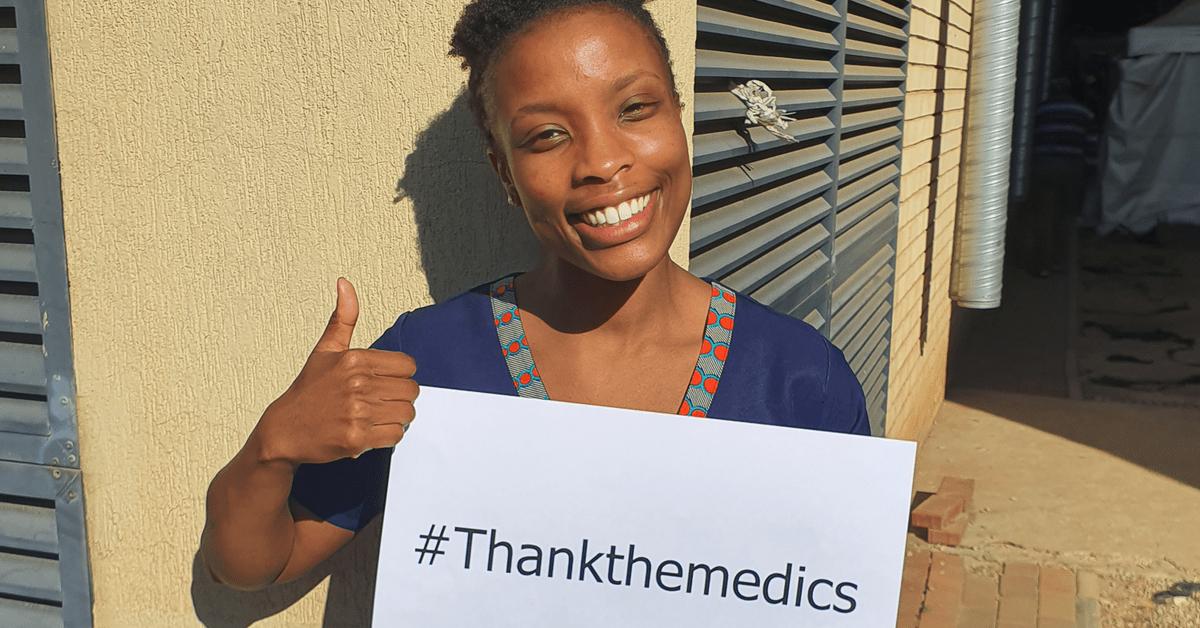 Doctor Yenzi Ngema urges South Africans to #ThankTheMedics