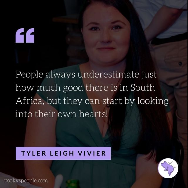 An inspirational quote from Tyler Vivier from Good Things Guy about the South African spirit.
