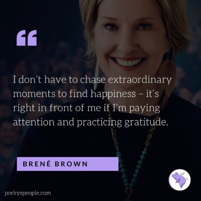 An Inspirational quote from Brent Brown about gratitude and happiness.