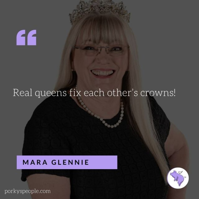 An inspirational quote from Mara Glennie founder of Tears about supporting women.