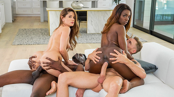[Vixen] Little Caprice, Ana Foxxx – A Long Time Coming [720p HEVC x265]