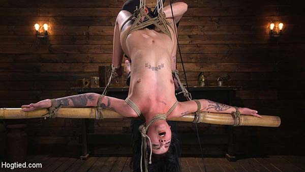 [HogTied – Kink] Charlotte Sartre – Submissive Goth Girl is Bound, Tormented, and Made to Cum [720p]