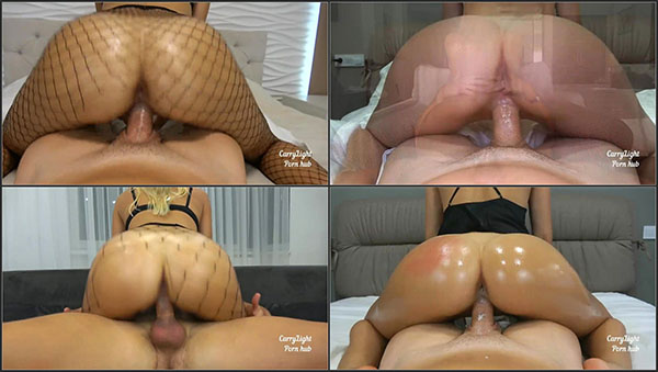 [PornHubPremium] Riding Compilation with Creampies by Amateur Couple Carry Light - Non-Stop Cowgirl Action until creampies galore!!! [720p]
