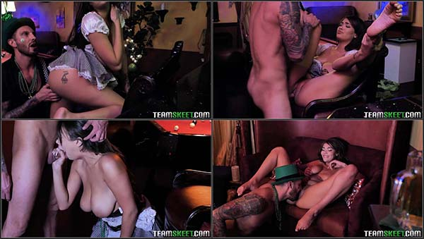 [TeenCurves] Cassidy Banks - A Buxom St. Paddys Bar Maiden [1080p HEVC x265]