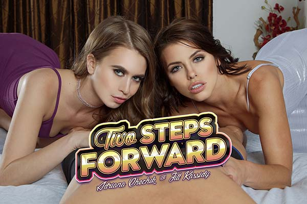 [BadoinkVR] Two Steps Forward Starring: Adriana Chechik and Jill Kassidy (GearVR/DayDream) [1440p 60FPS]