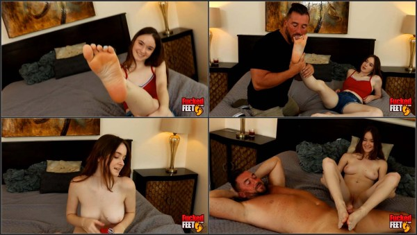 [FuckedFeet] Hazel Moore - 19 Year Old Hazel Moore Gives Great Footjobs! [1080p 30FPS]