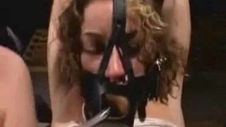 Nasty bitch forced to drink her asshole enema