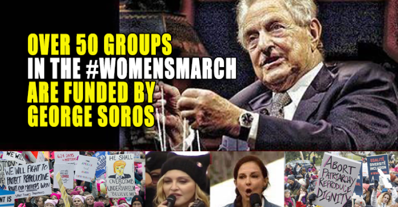 Billionaire Terrorist Donor George Soros Has Ties to More Than 50 'Partners' of the Women's March on Washington