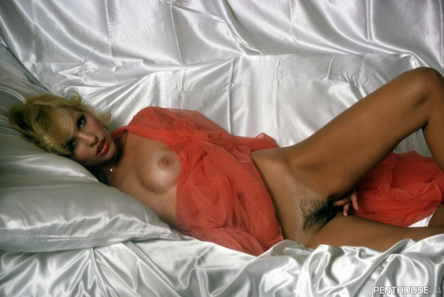 Angela Hyer posing nude for the May 1978 issue of Penthouse