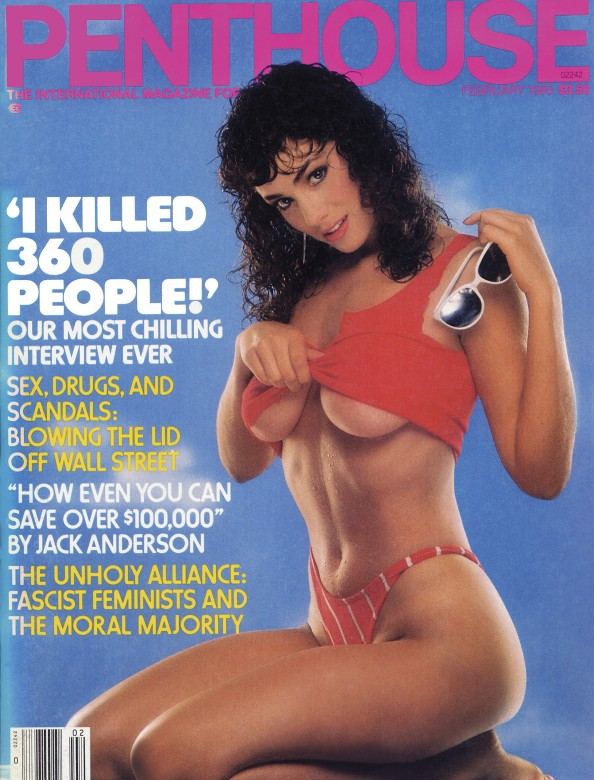 Brittany Dane on the cover of Penthouse Magazine February 1985