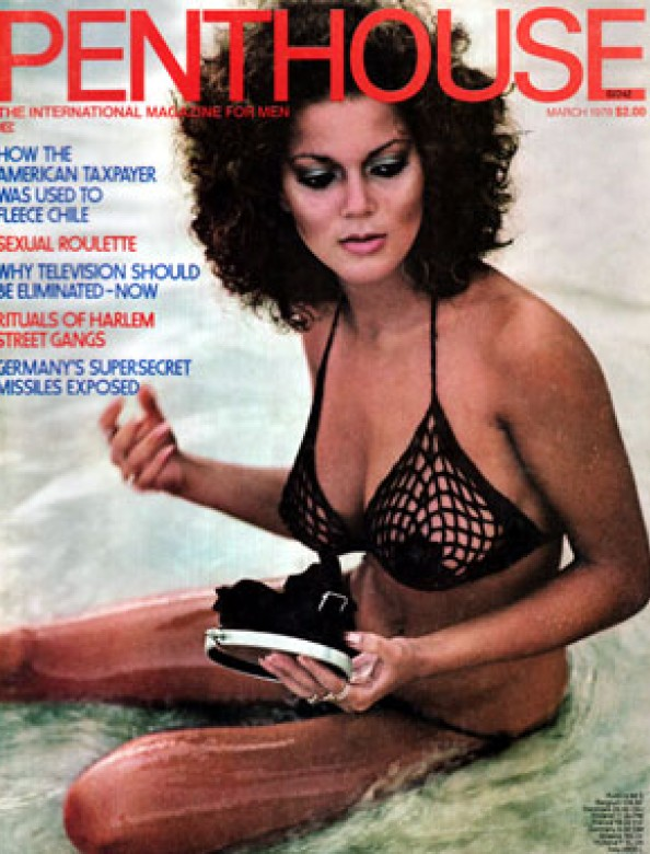 Carmen Pope on the cover of Penthouse magazine March 1978