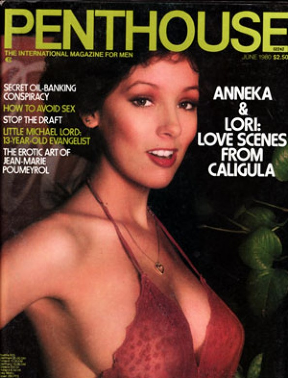 Danielle Deneux on the cover of Penthouse Magazine