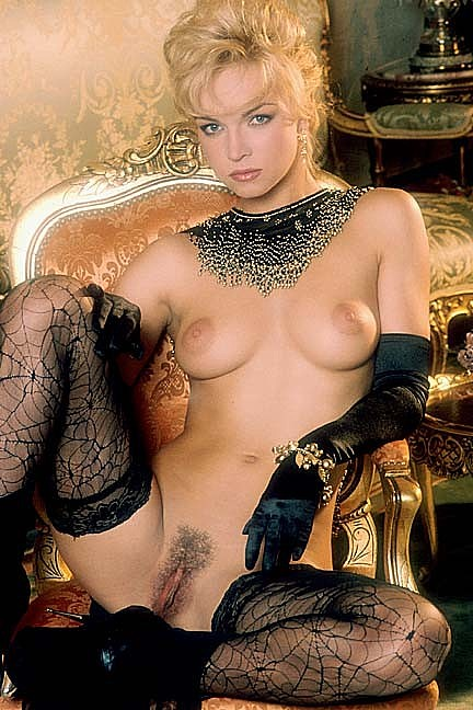 Darina Vanickova posing nude for the May 1995 issue of Penthouse