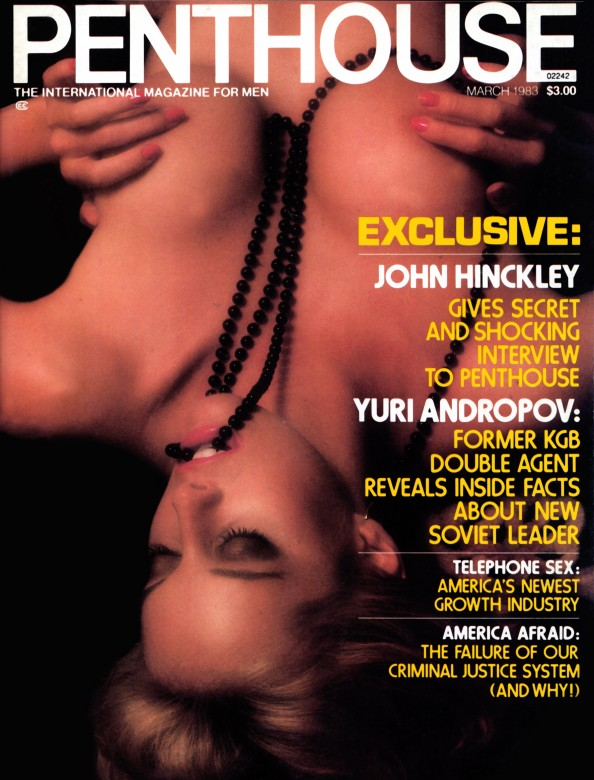Greta Andersen on the cover of Penthouse Magazine
