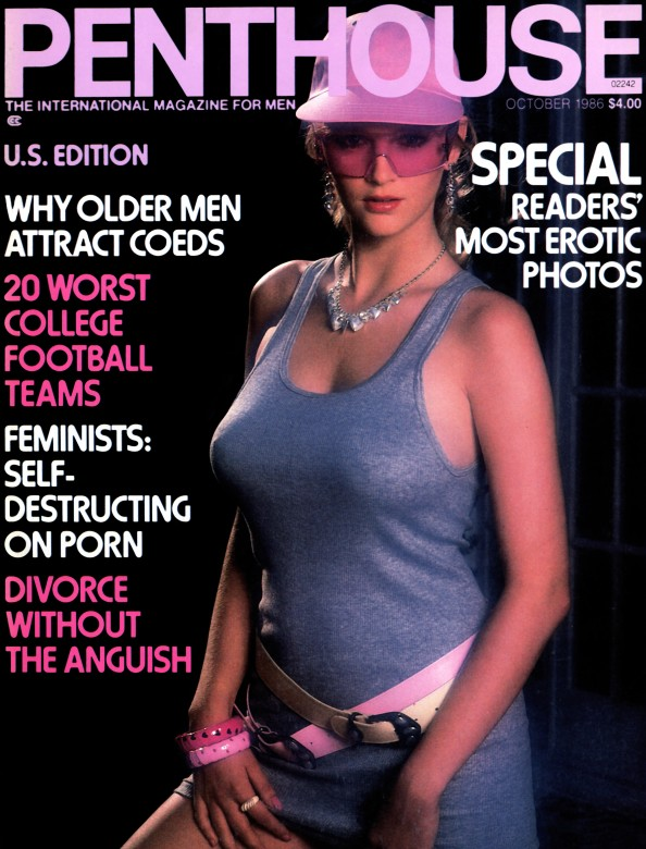 Janna Adams on the cover of Penthouse Magazine October 1986
