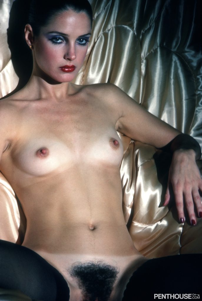 Jennifer Zane posing nude for the August 1978 issue of Penthouse