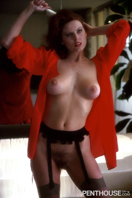 Judi Gibbs posing nude for the December 1979 issue of Penthouse