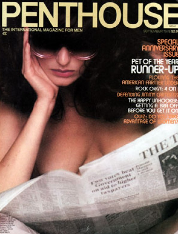 Kate Simmons on the cover of Penthouse magazine September 1978
