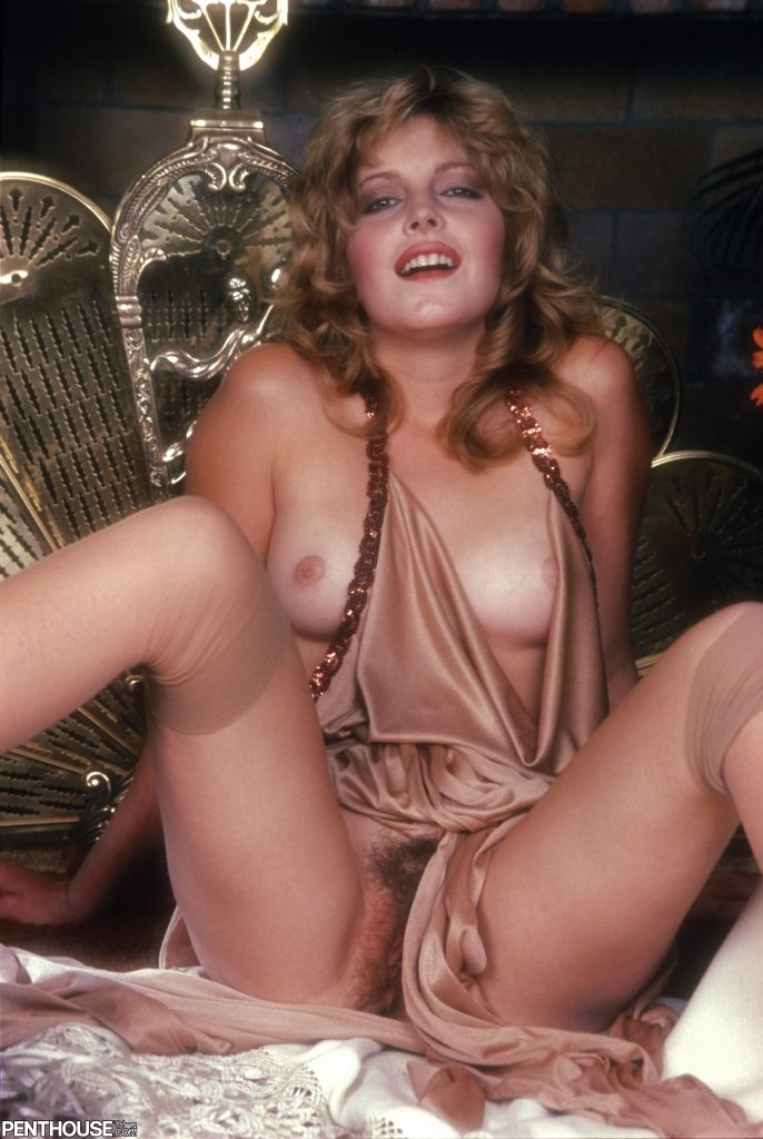 Krista Simon posing nude for the July 1983 issue of Penthouse