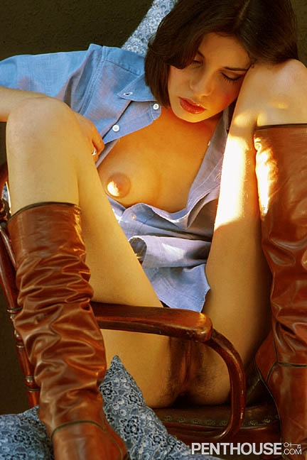 Lucia St Angelo posing nude for the September 1977 issue of Penthouse