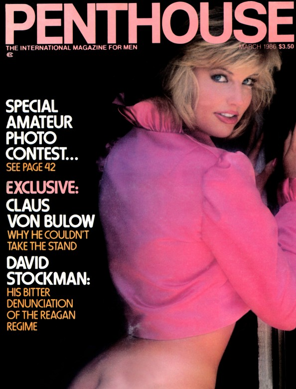 Michelle Walker on the cover of Penthouse Magazine March 1986
