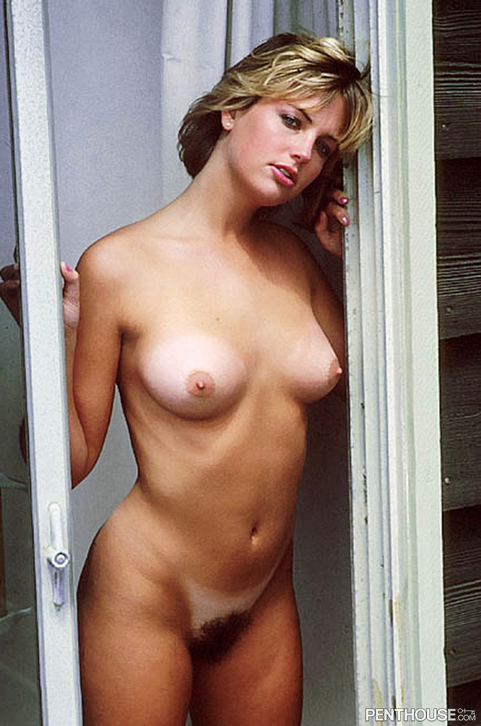 Michelle Walker posing nude for the March 1986 issue of Penthouse