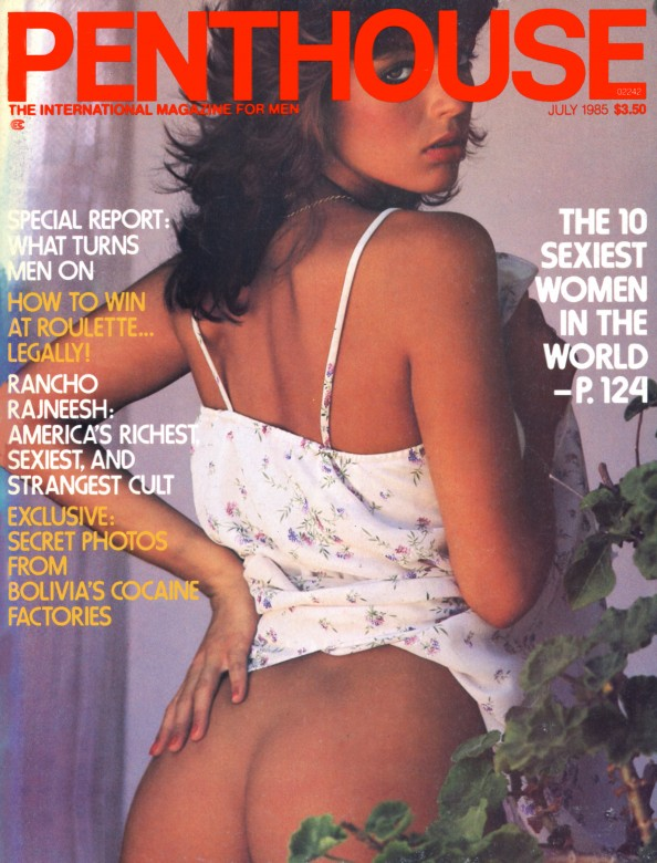 Phyliss Partin on the cover of Penthouse Magazine July 1985