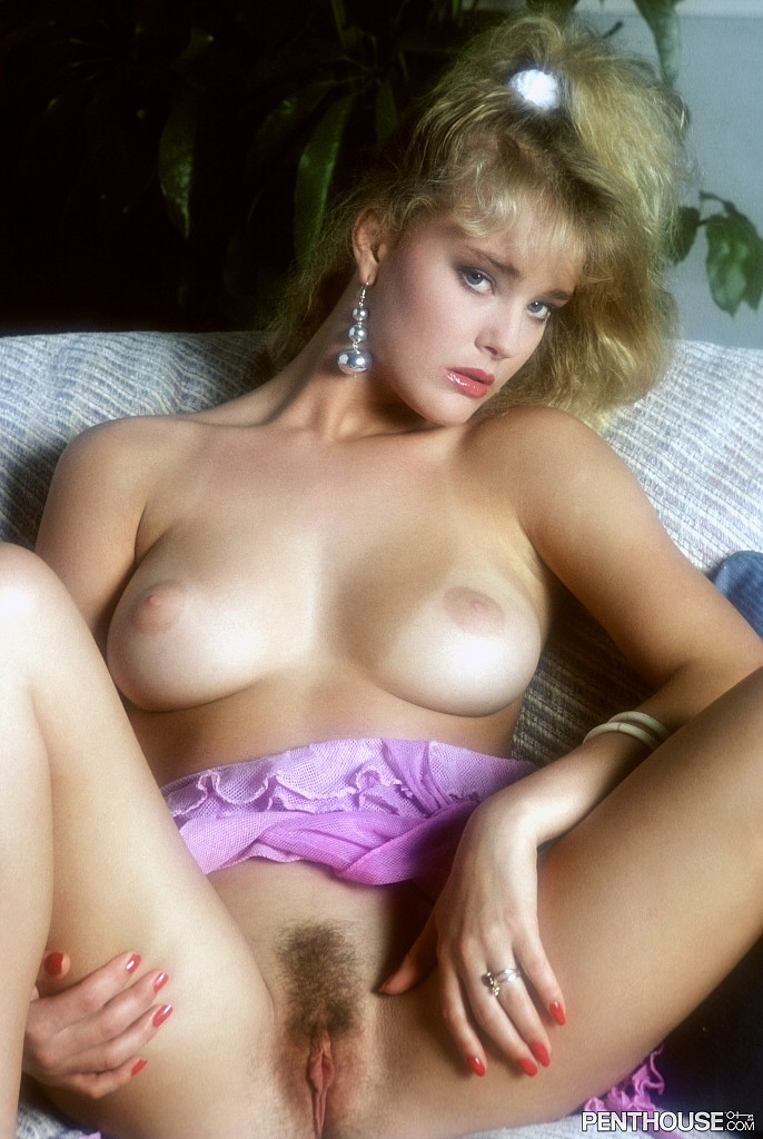 Stephanie Page posing nude for the September 1987 issue of Penthouse