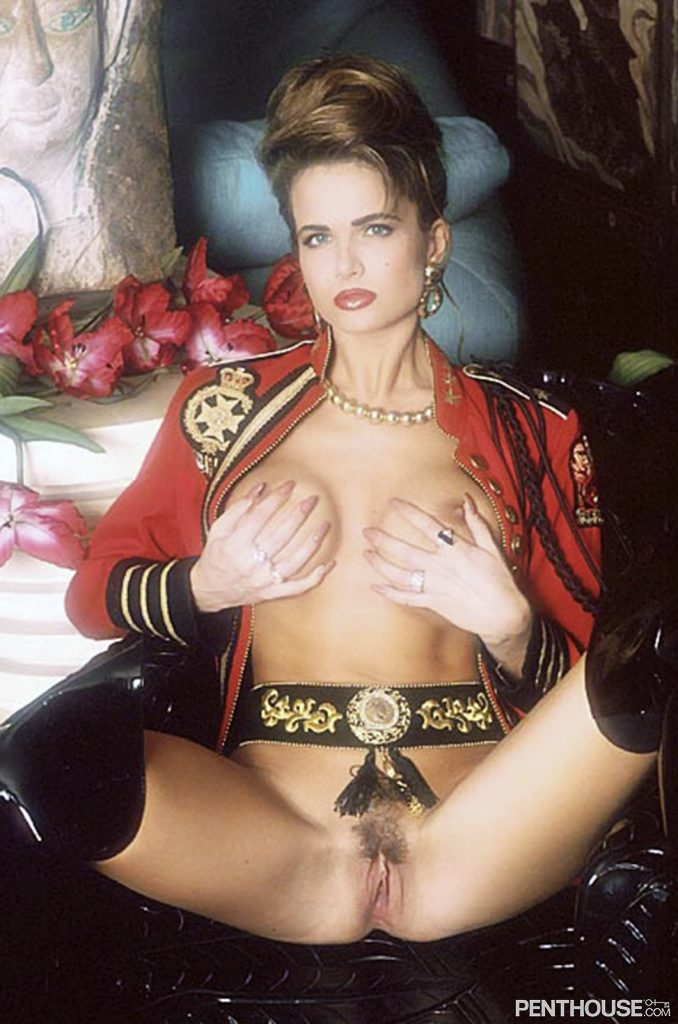 Tiffany Burlingame posing nude for the February 1994 issue of Penthouse